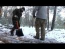 Поход в лес зимой на 3 дня (базовый лагерь) / Winter camping hot tent Bushcraft basecamp
