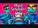 Михакер 😷 Hand Simulator Смешные моменты (перевод) - НОГЛА ЛЕГ НА ОПЕРАЦИЮ (Vanoss)
