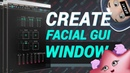How to create facial GUI window in Maya RUS
