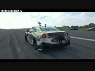 Разгон Nissan GT-R 2000 HP