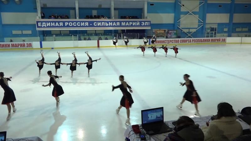 Чемпионат и Первенство России по синхр KMC Произвольная программа 12 Кристалл Айс Джуниор