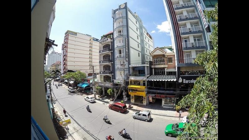 205 Вьетнам Нячанг Виды города из окна автобуса Плоские дома Vietnam Nha Trang flat houses