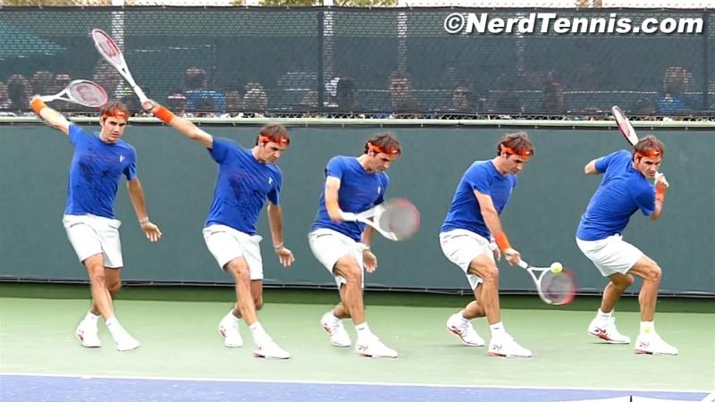 Федерер Бэкхенд Замедленная сьемка Roger Federer Slow Motion Backhands