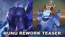 New Nunu Rework 2018 Teaser Preview ! Nunu Splash Art Comparison Old and New - League of Legends