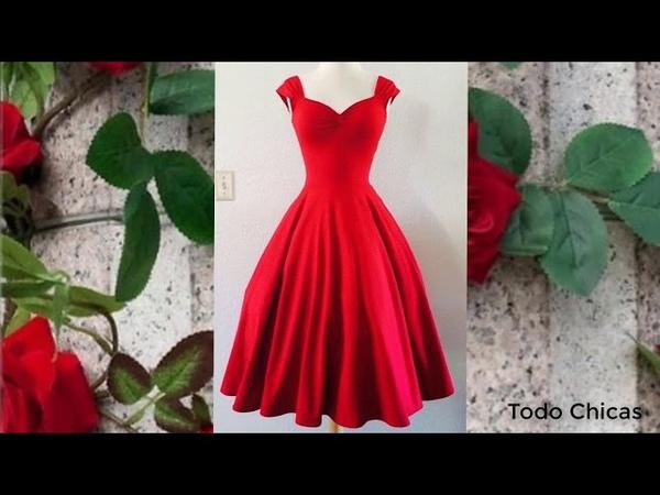 Rojo ,Red Tendencia Moda para Chicas Todo Chicas