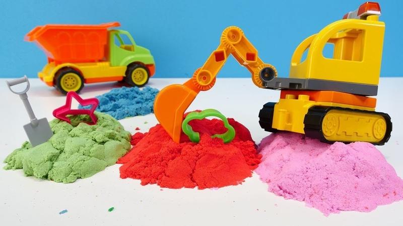 Kinetim kum ve oyun hamuru ile şekilleri yapalım. Kinetim kum oyunları.
