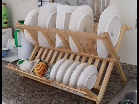 Porta platos en madera