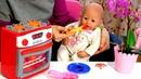 Giochi per bambini con la bambola Nenuco La pappa per piccoli Video educativi
