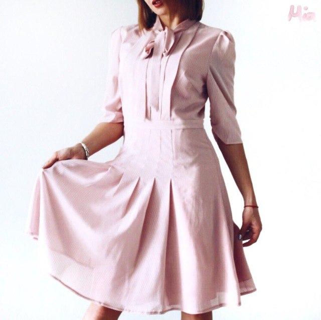 Летнее платье в офис