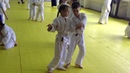 Тренировка айкидо для детей девочки на детской тренировке айкидо