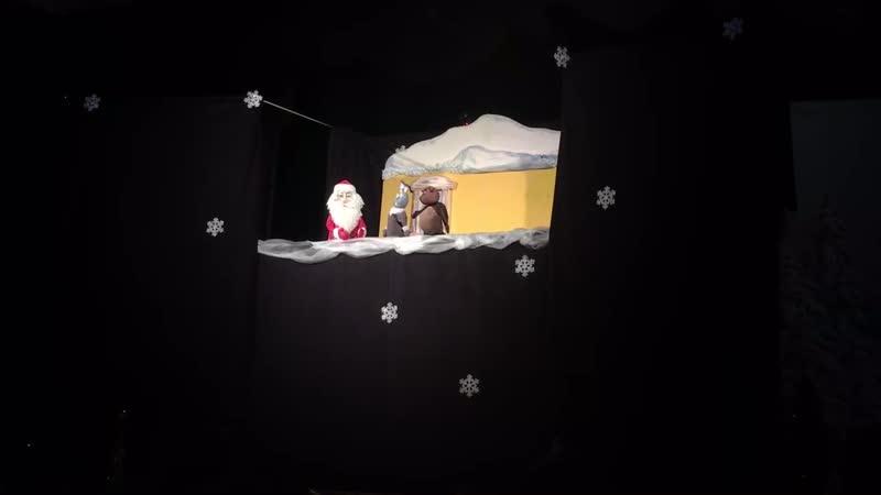 Новогодний спектакль Новогодний переполох для маленьких детей образцового кукольного театра