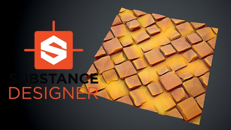 Substance Designer Stylized Tiles with Sand