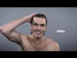 100 лет моды мужских причесок за 1 минуту