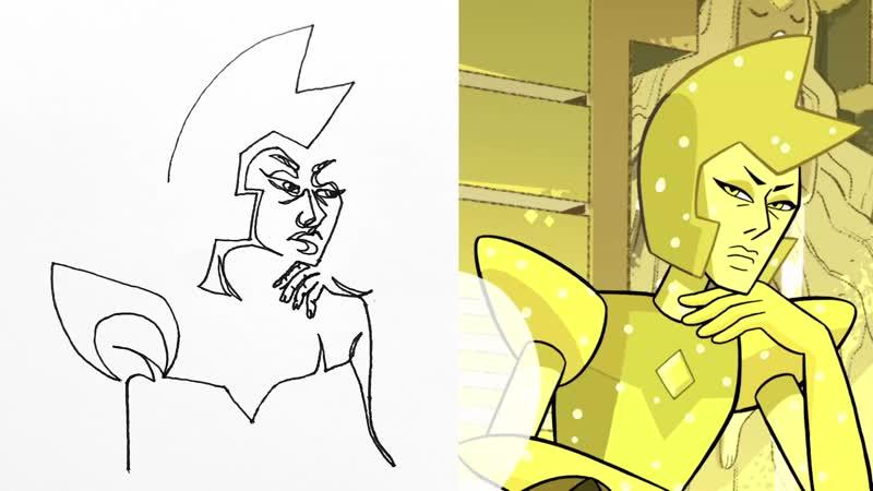 Steven Universe ¦ Yellow Diamond Contour Drawing ¦ Cartoon Network ¦ LET'S CREATE