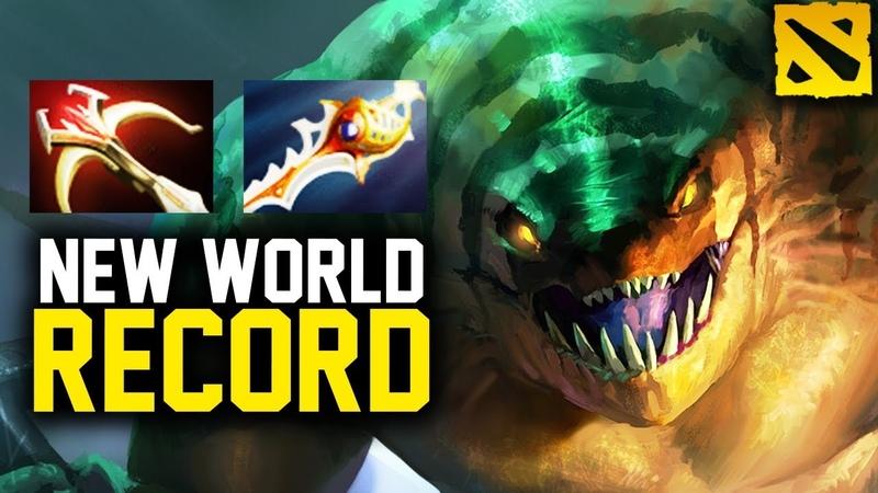 NEW WORLD RECORD Tidehunter 38 Kills Daedalus Rapier, WTF Right Click Build by Top America Dota 2