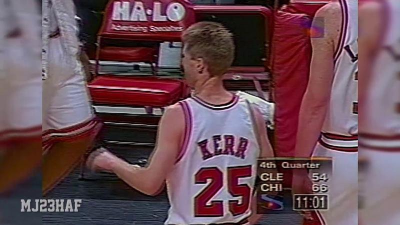 Steve AIR Kerr Do the Free Throw Put-Back! (1997.04.04)