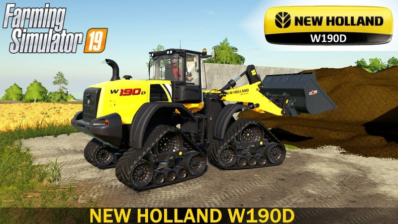 Farming simulator 19 NEW HOLLAND W190D CRAWLER LOADER