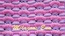 Punto a crochet Abanicos de Rococo combinado con punto Relieves para cobijas de bebe