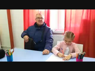 Видео отзыв дедушки Логачевой Евы об ее обучении в Школе Скорочтения и развития интеллекта IQ007