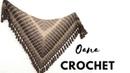 Arrow Scarf Shawl Gilet crochet by Oana