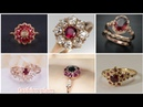 Latest and unique ruby diamond gold engagement rings style for women's