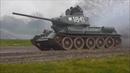 Немецкий тяжёлый танк Тигр на ходу и другая техника Второй мировой войны