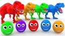 Learn Colors With Dinosaur and Surprise Eggs For Kids | Colours With Animals Fruits for Children 2