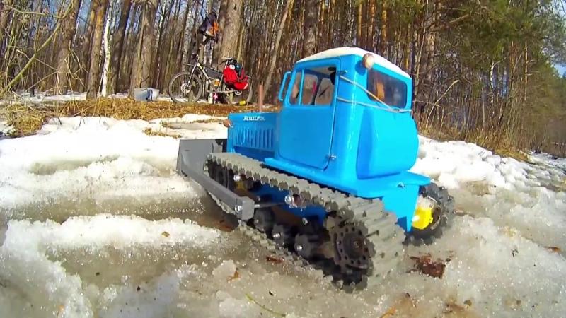 ДТ-75 Казахстан - радиоуправляемый трактор, напечатанный на 3D принтере