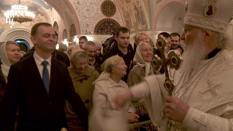 В Крещенский сочельник Патриарх Кирилл совершил Литургию в Храме Христа Спасителя