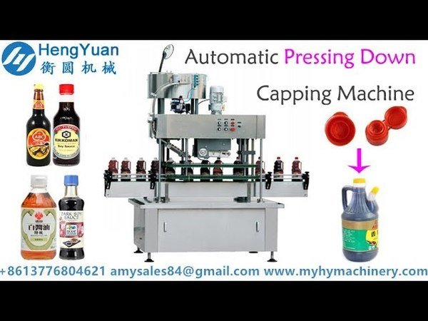 Automatic pressing down capper for snap lid press capping machine