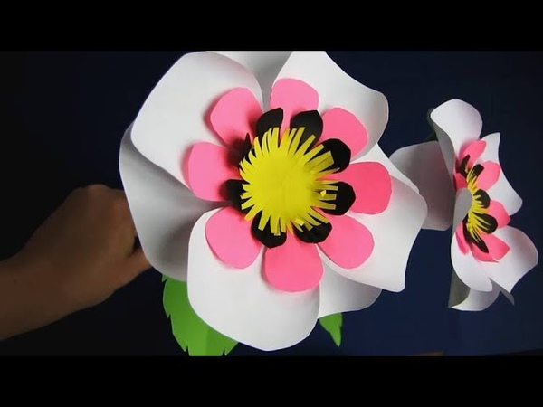 Paper Flower Stick DIY Paper Craft Handcraft 15