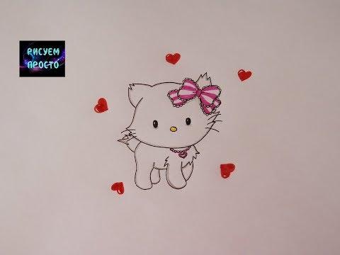 Как нарисовать ХЕЛЛО КИТТИ277How to draw HELLO KITTY