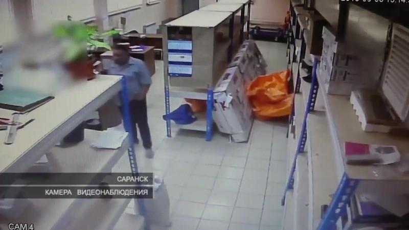 Кража в почтовом отделении Саранска.Теперь почтовые отделение охраняют . И чтоб клиента обслужили чтоб он отправил телеграмму ил