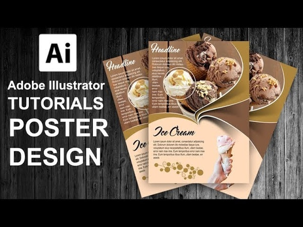 How to Create a Ice Cream Poster Flyer Using Adobe Illustrator FreeDownloads