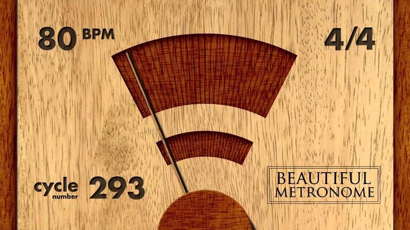 80 BPM 44 Wood Metronome HD