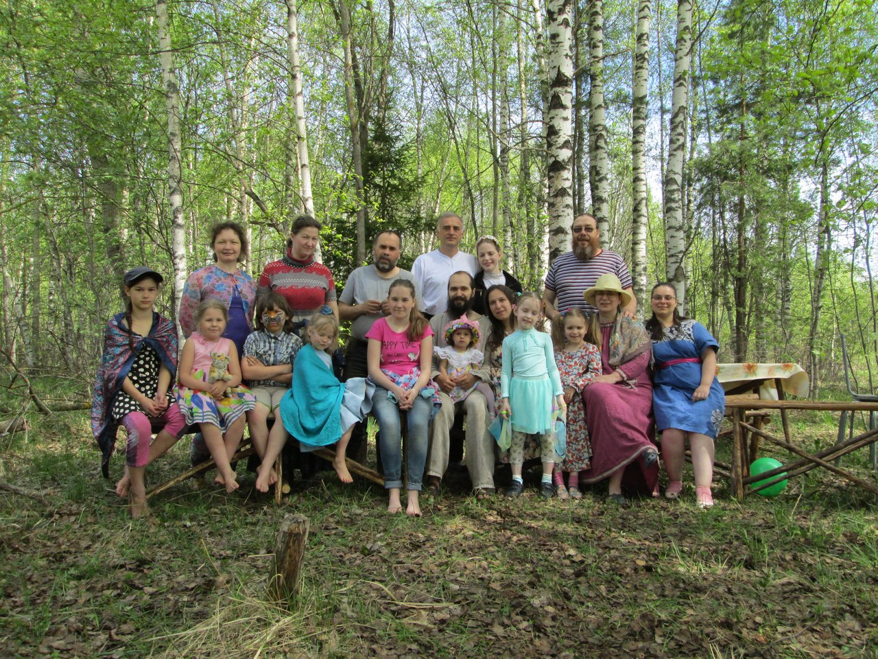 Майчане на празднике День Майского (9 мая)