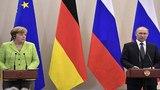 18.05.2018 Президент РФ Владимир Путин и канцлер Германии Ангела Меркель подводят итоги переговоров. Сочи