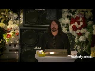Речь Дэйва Грола на похоронах Лемми (русская озвучка)(Dave Grohl at Lemmy's funeral)