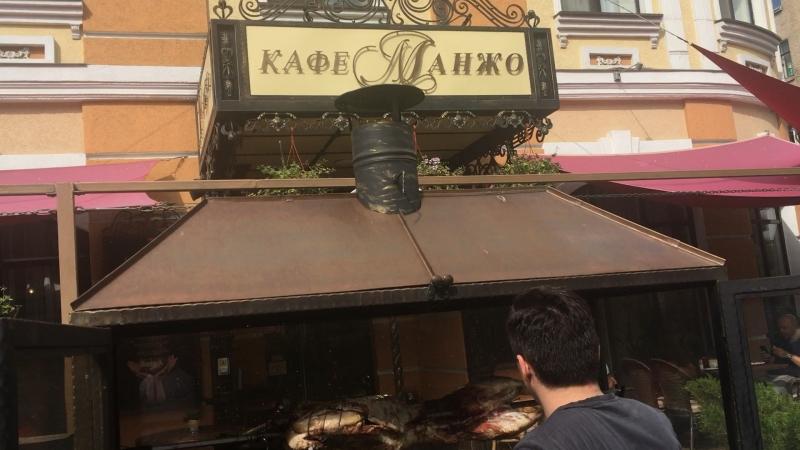 Ягнёнок в ресторане «Манжо» в Ростове