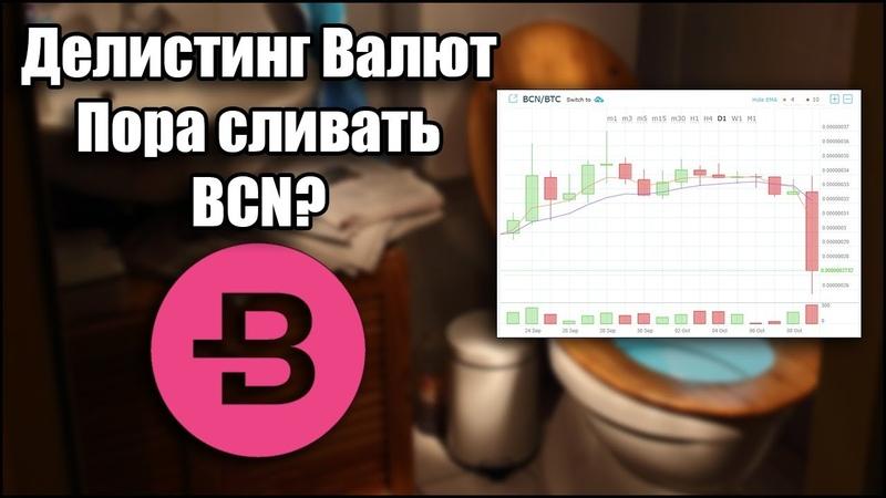 Делистинг валют Пора сливать BCN