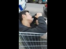 Lad found passed out in a shopping trolley