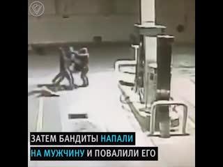 Пес спас заправщика от бандитов