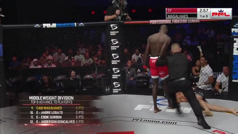PFL7 Sadibou Sy defeats Caio Magalhães via KO/TKO at 2:06 of Round 1