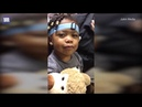 Its OK mama! A moment little girl, two, who was born deaf hears her own voice for the first time