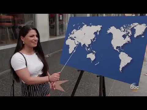 Programa de TV desafia americanos a apontar qualquer país no mapa