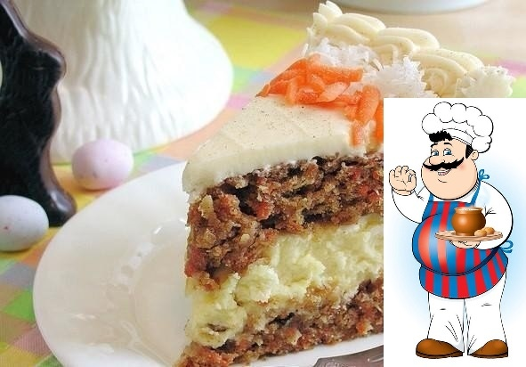 Морковный торт-чизкейк
