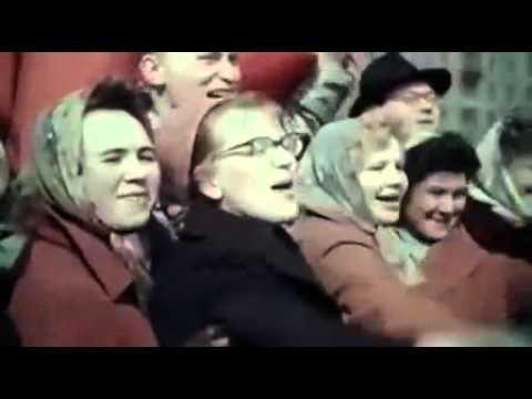 3Юрий Гагарин Доклад Н Хрущеву, проезд по Москве 1961 online video cutter com 2