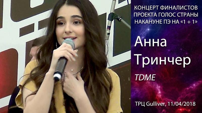 Анна Тринчер – TDME (Там Де Ми Є) (Антитела cover). Киев, ТРЦ Gulliver, 11.04.2018.