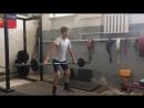 Наработка мощи в боксе штангой