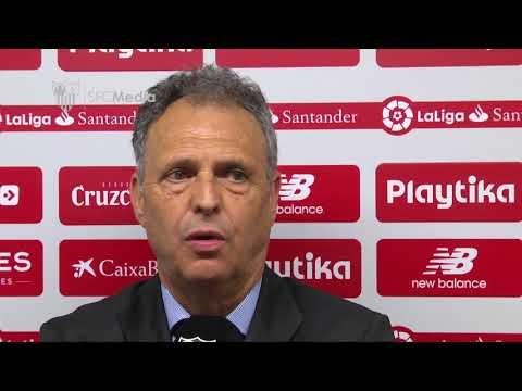 Caparrós: Merecimos un resultado más amplio. 09/05/18. Sevilla FC